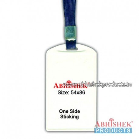 N Blue sleeve tag with holder no 1 (H116)