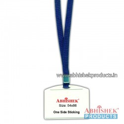 N Blue sleeve tag with holder no 12 (H117)