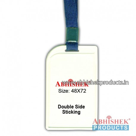 N Blue sleeve tag with holder no 12 (H118)