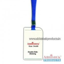 N Blue sleeve tag with holder no 8 (H119)