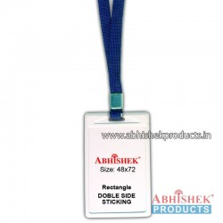 N Blue sleeve tag with holder no 112 (H121)