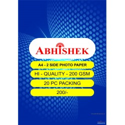 Abhishek 200 Gsm 2 side Photo Paper