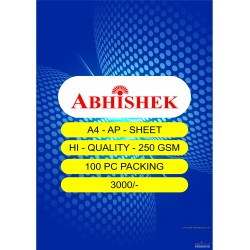 Abhishek A4 Ap Sheet - inkjet printable laser sheet