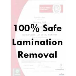 Lamination Removal 100% safe