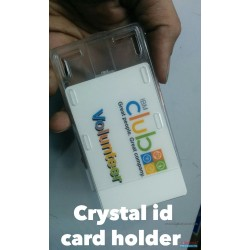 Crytal Box id card Holder