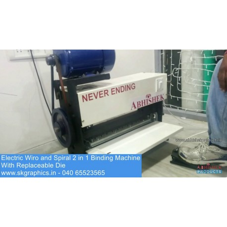 Electric Wiro & Spiral Machine with replaceable die