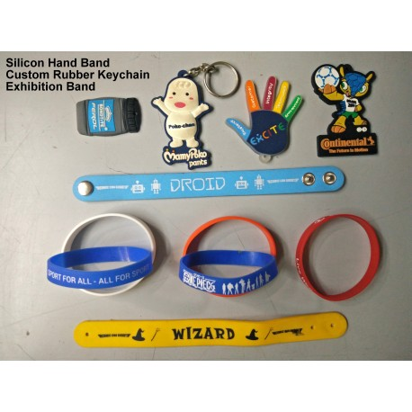 Silicon Rubber Wist bands and key chains
