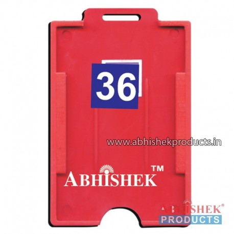 54X86 Mm Vertical Red Holder (No 36)