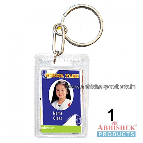 Transparent Rectangular Key Chain Customizable (No 1)
