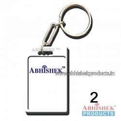 White Rectangular Key Chain Customizable (No 2)