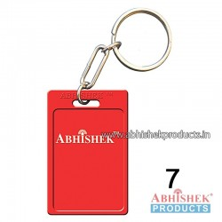 Red Rectangular Key Chain Customizable (No 7)