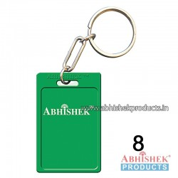 Green Rectangular Key Chain Customizable (No 8)