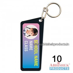 Black Rectangular Key Chain Customizable (No 10)