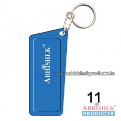 Blue Rectangular Key Chain Customizable (No 11)