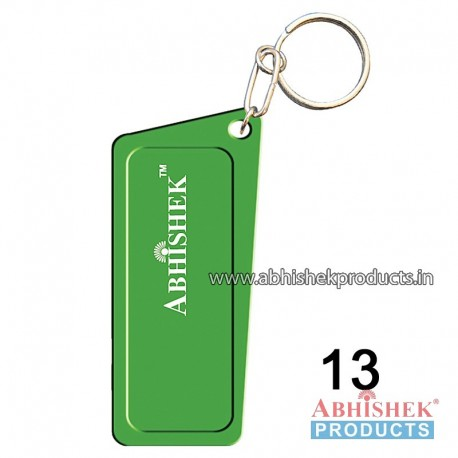 Green Rectangular Key Chain Customizable (No 13)