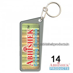 Grey Rectangular Key Chain Customizable (No 14)