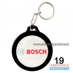 Black Round Key Chain Customizable (No 19)