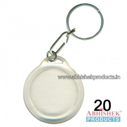 Transparent Round Key Chain Customizable (No 20)
