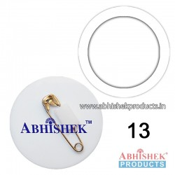 35x35 mm White Badge (No 13)