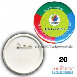 44x44 mm Multi Colour Button Badge (No 20)