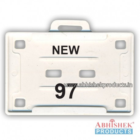 54X86 Mm Horizontal White Holder (No 97)