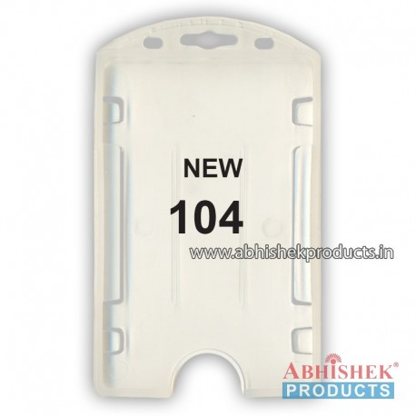 54X86 Mm Vertical White Holder (No 104)