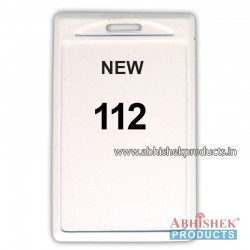 48X72 Mm Vertical White Holder (No 112)