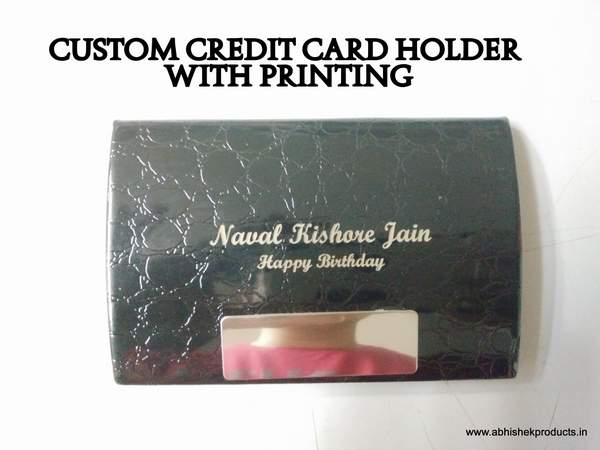Card holder with printing for gifting